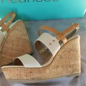 Maurices NWT Cork Wedges sz 9